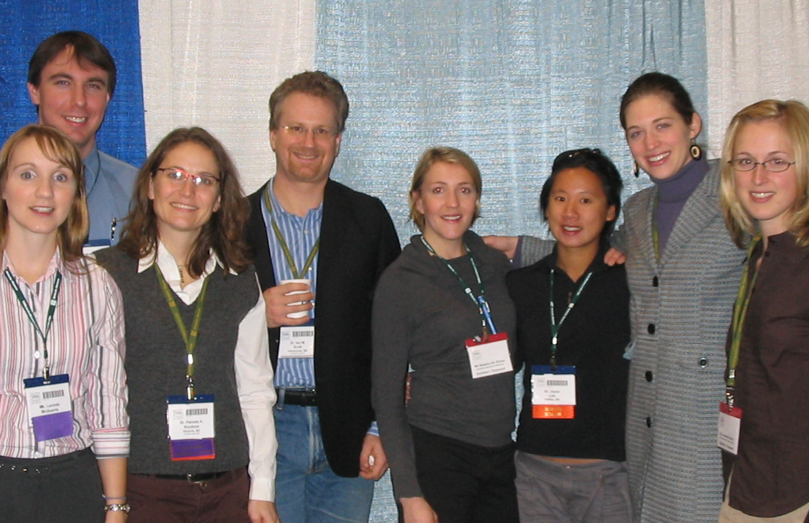 Dr. Scott (4th from the left) with medical students